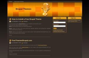 Free Drupal Dark Music Orange Theme Template