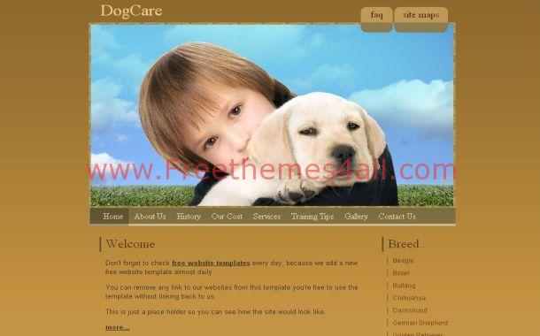 Free Animals PSD Template CSS Website Theme