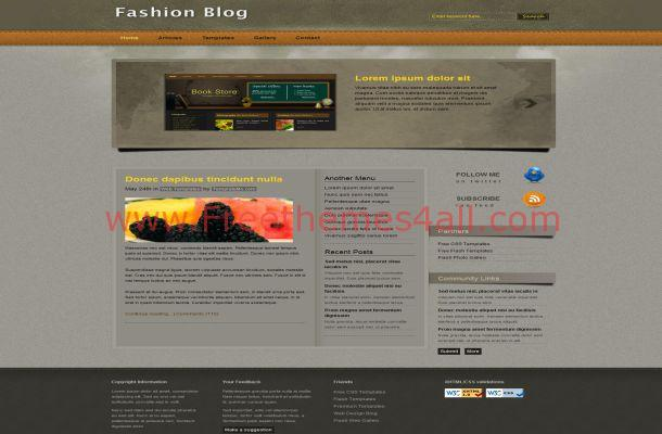 Brown Fashion CSS Template