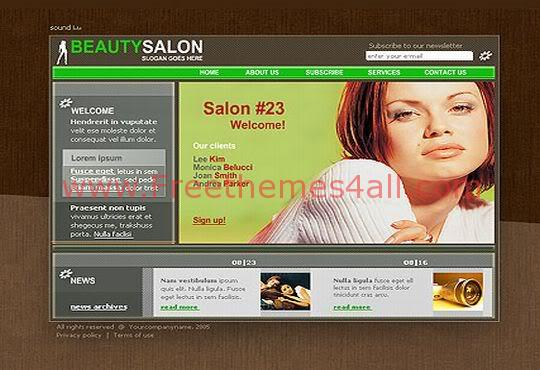 Free Flash Beauty Sexy Saloon Web2.0 Template