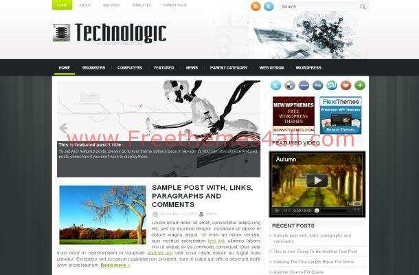 Gadgets Grey Jquery Free Wordpress Theme