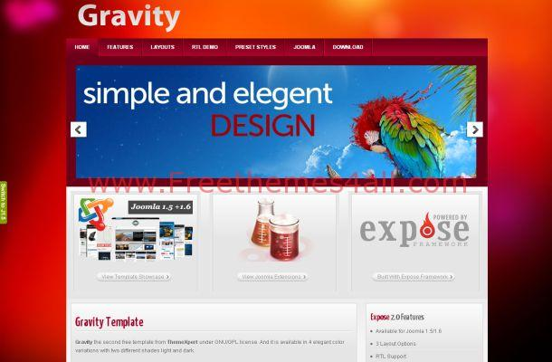 Colorful Business Jquery Free Joomla 1.6 Theme