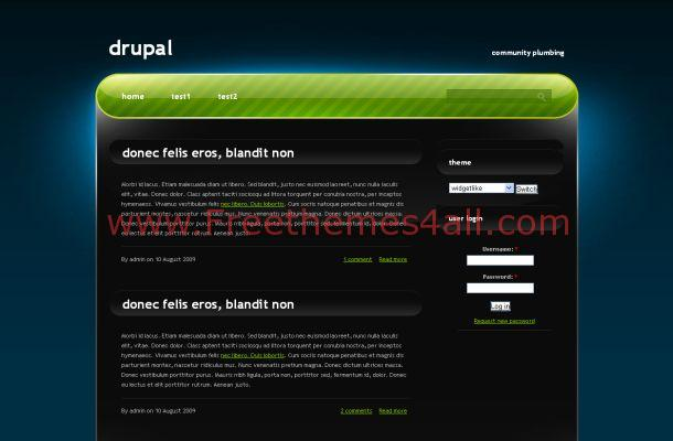 Free Drupal Blue Black Green Business Theme
