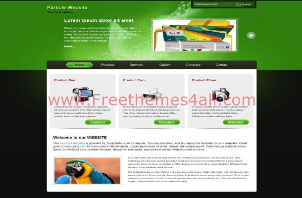 Black Green Gadgets CSS Template