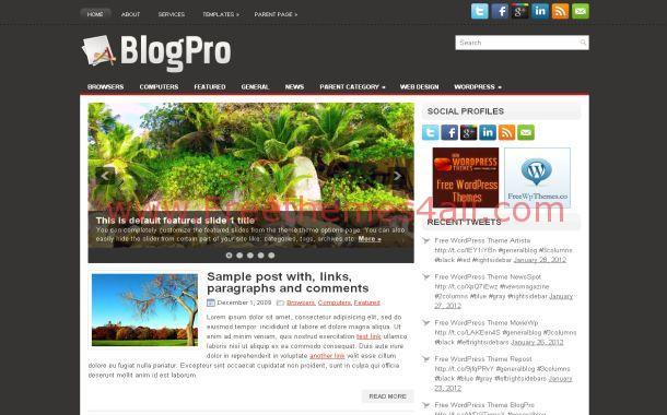 News Grey Chrome Free WordPress Theme