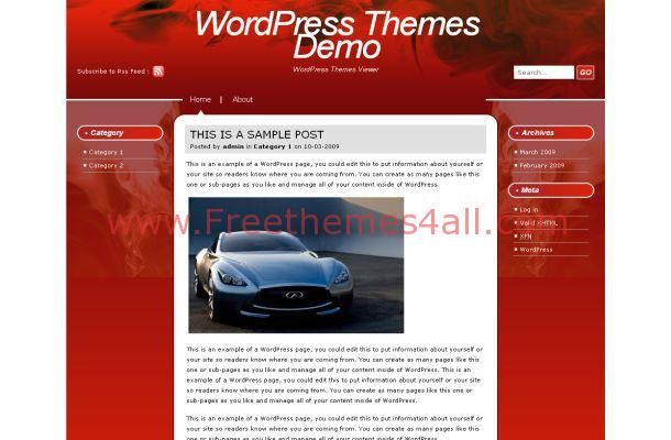 Red Fire WordPress Theme Template