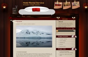 Brown Hotels Wooden Blogger Theme