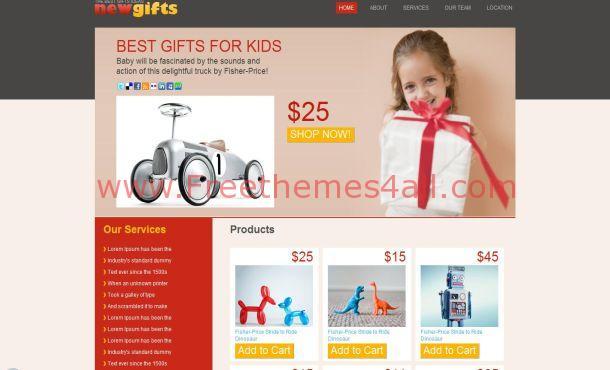 Free Kids Joys Red HTML Website Template