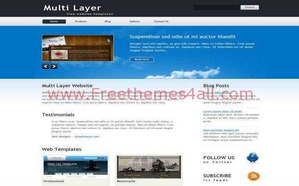 Business Blue HTML Website Template