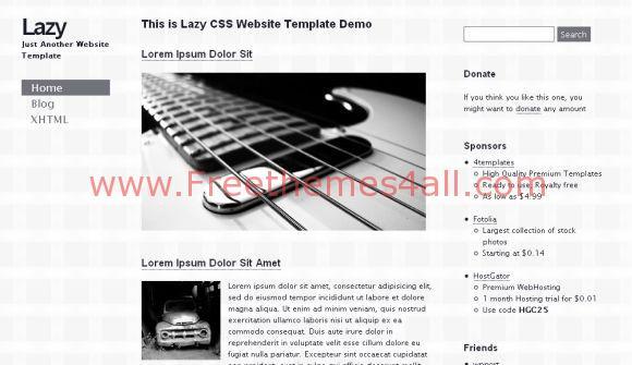 Grey Music Guitar CSS Template