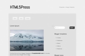 News Blog HTML5 Free Blogger Template