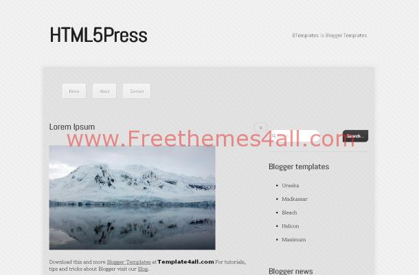 HTML5 News Blog Free Blogger Template