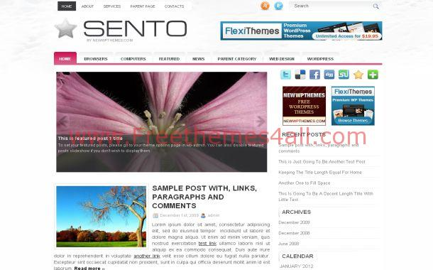 News Pink Chrome Wordpress Theme