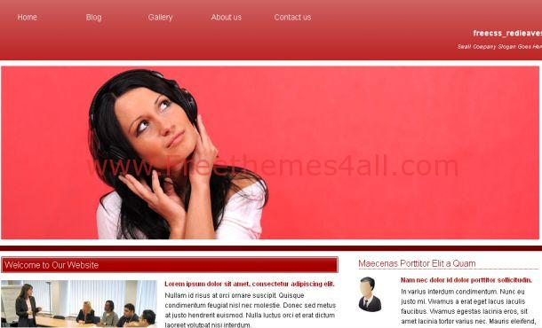 Free Red Pink Business CSS Website Template