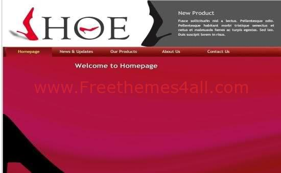 Shoes Shop Flash Template Free Download