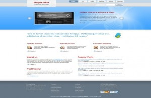 Simple Blue Business Free CSS Template