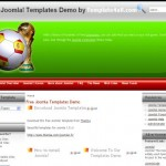 Free Soccer Joomla Green Red Theme Template Download
