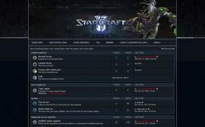 Blue Starcraft Free Phpfusion Theme