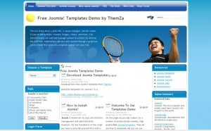 Tennis Sport Joomla Theme Template