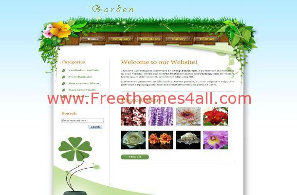 Vector Graphics Garden CSS Template