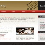 Business Red Brown CSS Website Template