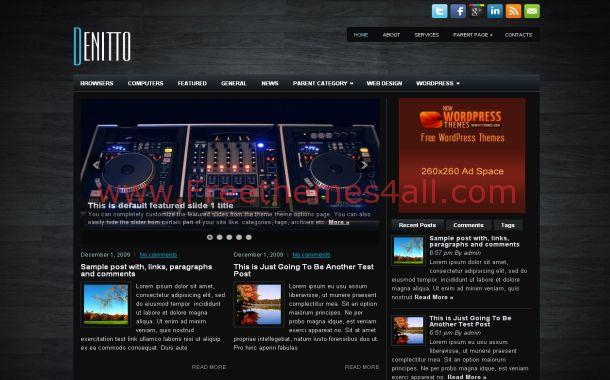 Free WordPress Wooden News Blog Theme