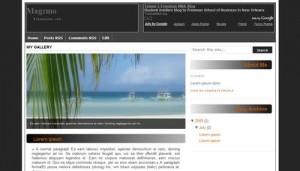 Free Blogger Black Beach Template