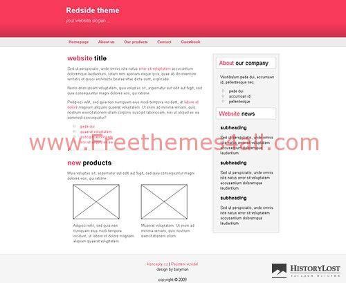 Free CSS Redside HTML Website Theme Template