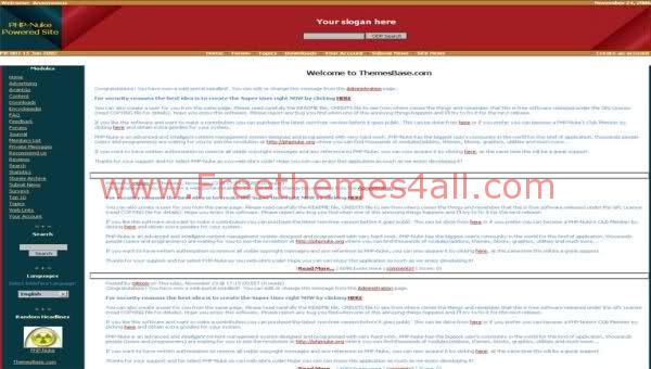 Free Phpnuke Red White Community Web2.0 Template