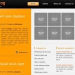 Free Black Orange CSS HTML Website Template
