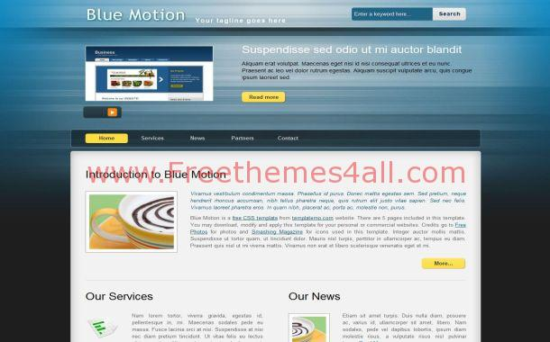 Blue css motion website free website for Motion 4 templates free download