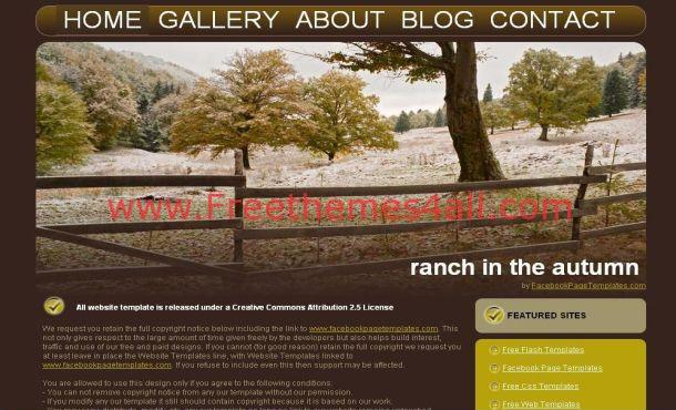 Brown Grunge Forest Free CSS Website Template