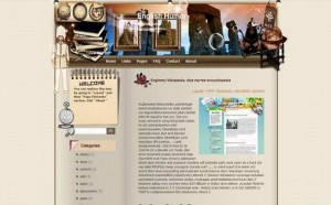 Free Oldies Story Brown Blogger Theme