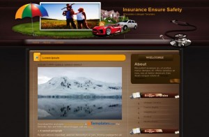 Insurance Brown Business Blogger Theme