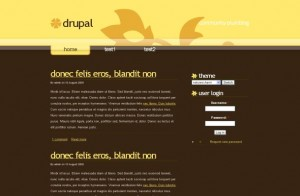 Yellow Brown Business Free Drupal Theme