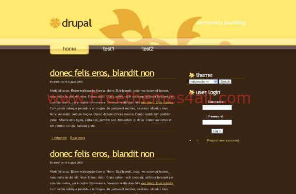 Yellow Brown Business Free Drupal Theme
