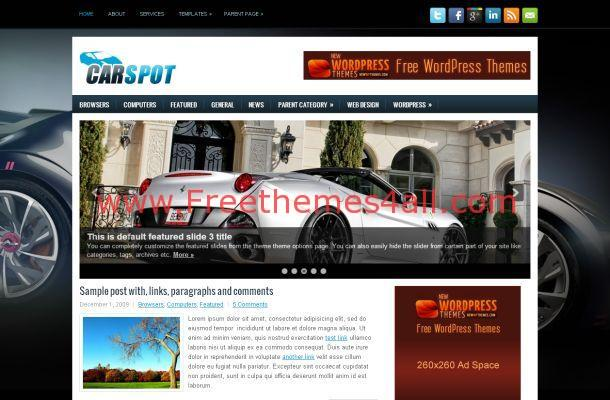 Cars News Magazine WordPress Theme Template