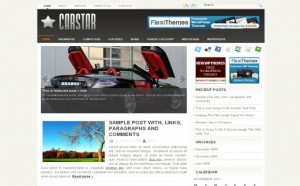 Chrome Cars Jquery Wordpress Theme
