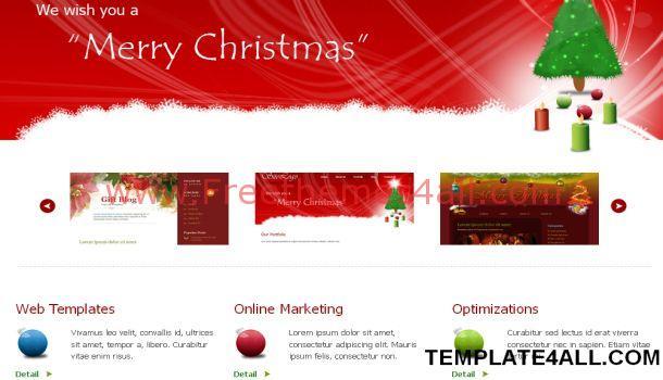 Portfolio Red CSS Jquery Website Template