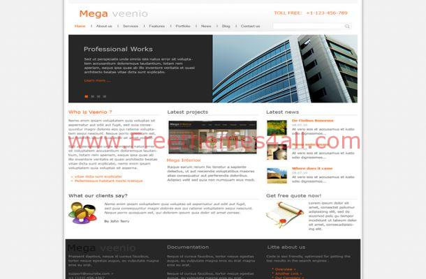 Business Joomla Orange Template Theme Download