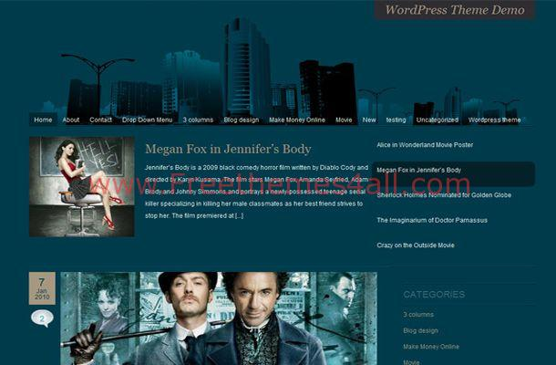 Grunge Movies Green Blogger Theme
