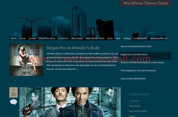 Grunge Movies Green Blogger Theme