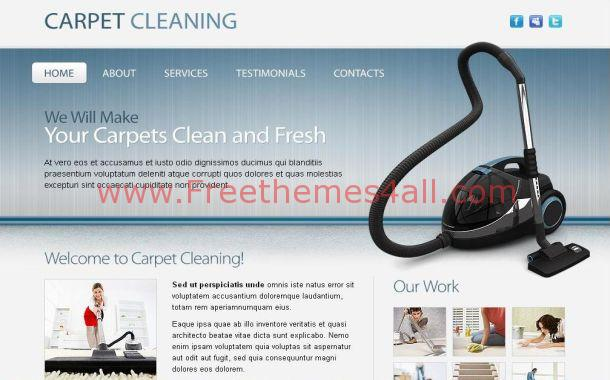 Free Blue Cleaning Company Template