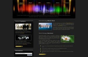 Free HTM Dark Black Colorful CSS Web Template