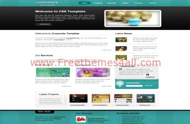 Free HTML Corporate Business Blue CSS Template