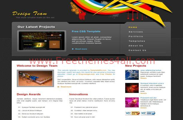 Design Agency Vector Grey CSS Website Template Download