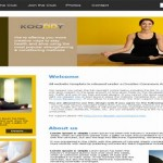 Free Yellow Brown Fitness CSS Template