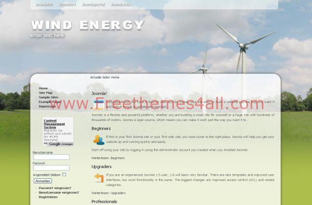 Free Joomla Flash Green Nature Theme Template