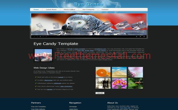 Black Abstract Free CSS HTML Flash Website Template