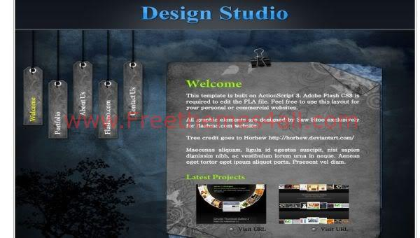 Photography Studio Design Flash Template